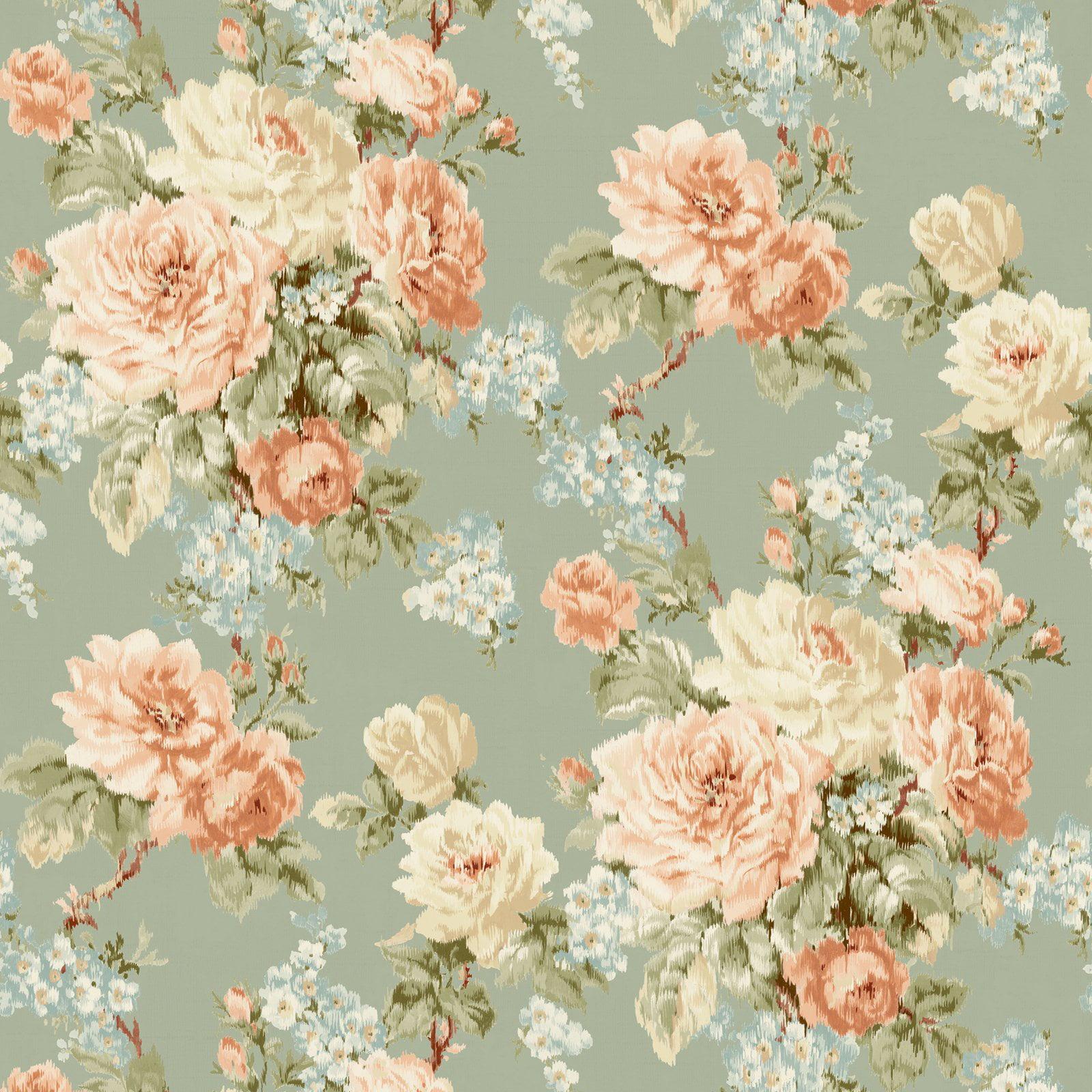 Fairwinds Studios Laycie Ikat Floral Wallpaper Walmart Com