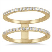 Marquee Jewels  3/8 Carat Diamond Double Row Ring in 10K Yellow Gold