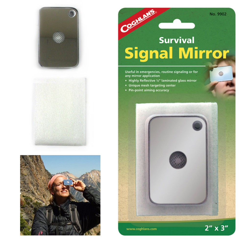 1 Pc Survival Signal Mirror Emergency Outdoors Rescue Gear Camping Tool Camp by Coghlan's