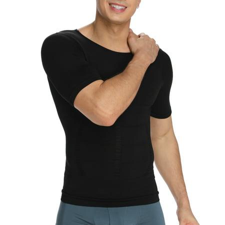 SLIMBELLE Compression Short Sleeve Men's Under Shirt Support Sore & Stiff Muscles