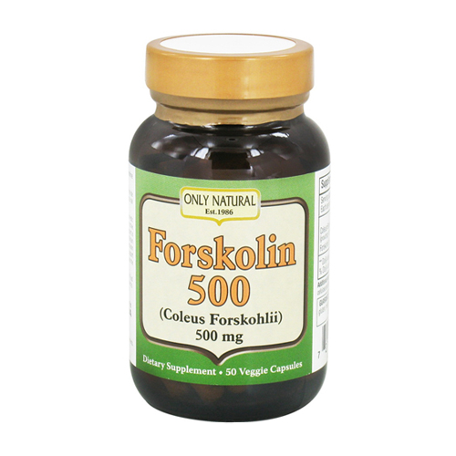 Only Natural Forskolin 500 Mg Vegetarian Capsules - 50 Ea