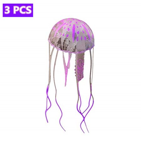 Holiday Clearance 3Pcs LED Fantasy Jellyfish Lamp Round light effects Artificial Jellyfish Jelly Fish Tank Aquarium Mood Lamp for home decoration magic lamp for (Style Fish Lamp)