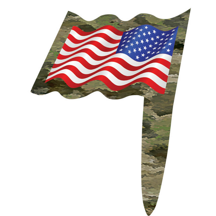 American Flag Patriotic Party Picks with Military Camo (24)