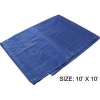 10 Feet x 10 Feet Multipurpose Blue 3 Mil PE Tarp - Waterproof, 70 GSM (POLY PRO: TB-51011)