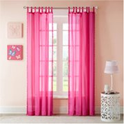 Home Essence Mila Solid Embellished Girls Bedroom Curtain Panel
