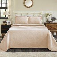 Impressions All-Season Basket Weave Pattern 100% Cotton Oversize Bedspread