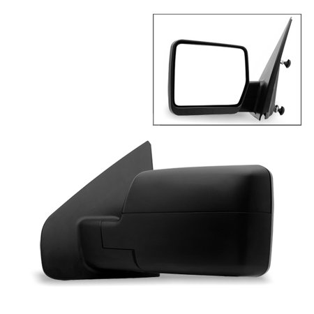 Fit 2004-2014 Ford F150 Pickup Textured Manual Mirror Driver Side (Ford Ranger Manual Mirror Driver)