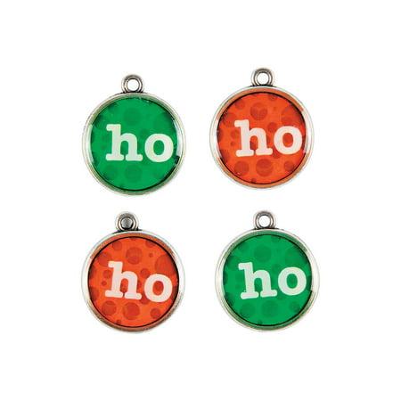 Fun Express - Ho Ho Ho Charms for Christmas - Craft Supplies - Adult Beading - Charms - Christmas - 12 Pieces (Christmas Fun For Adults)