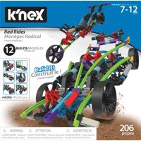 K'NEX Rad Rides Building Set - 206 Parts - 12 Models - Ages 7 and up - Creative Building Toy