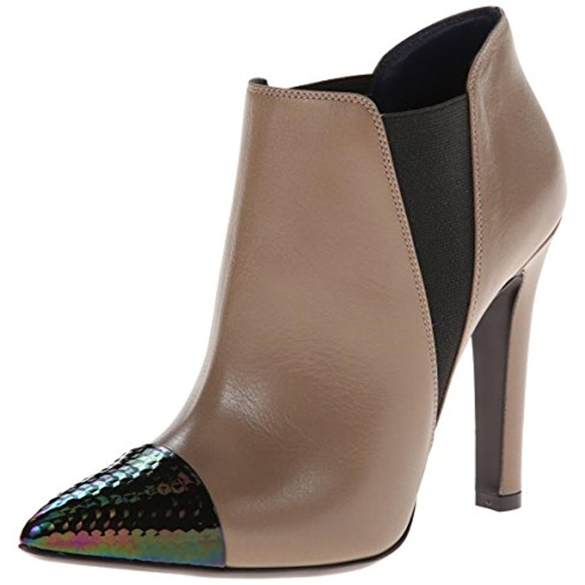 Pollini Womens Leather Pointed Toe Booties