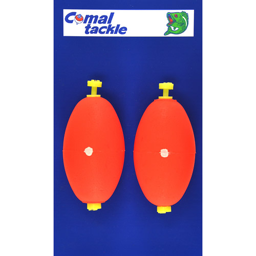Comal Tackle Oval Weighted Ratl Snap-on Float Red 2.5