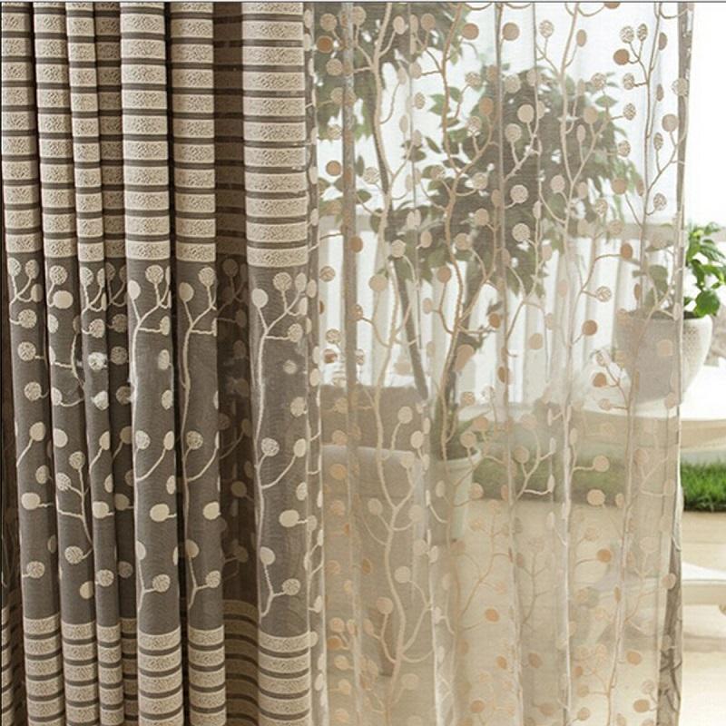 Modern Tulle Curtain Room Window Door Balcony Drape Panel Sheer Scarfs Valances