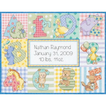 Birth Announcement Counted Cross Stitch - Dimensions Baby Hugs