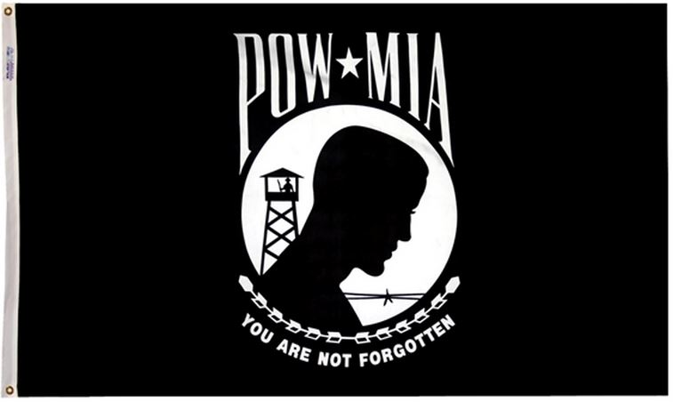 12x18 POW MIA You Are Not Forgotten Flag Military Veteran Boat Flag New by Home and Holiday Flags