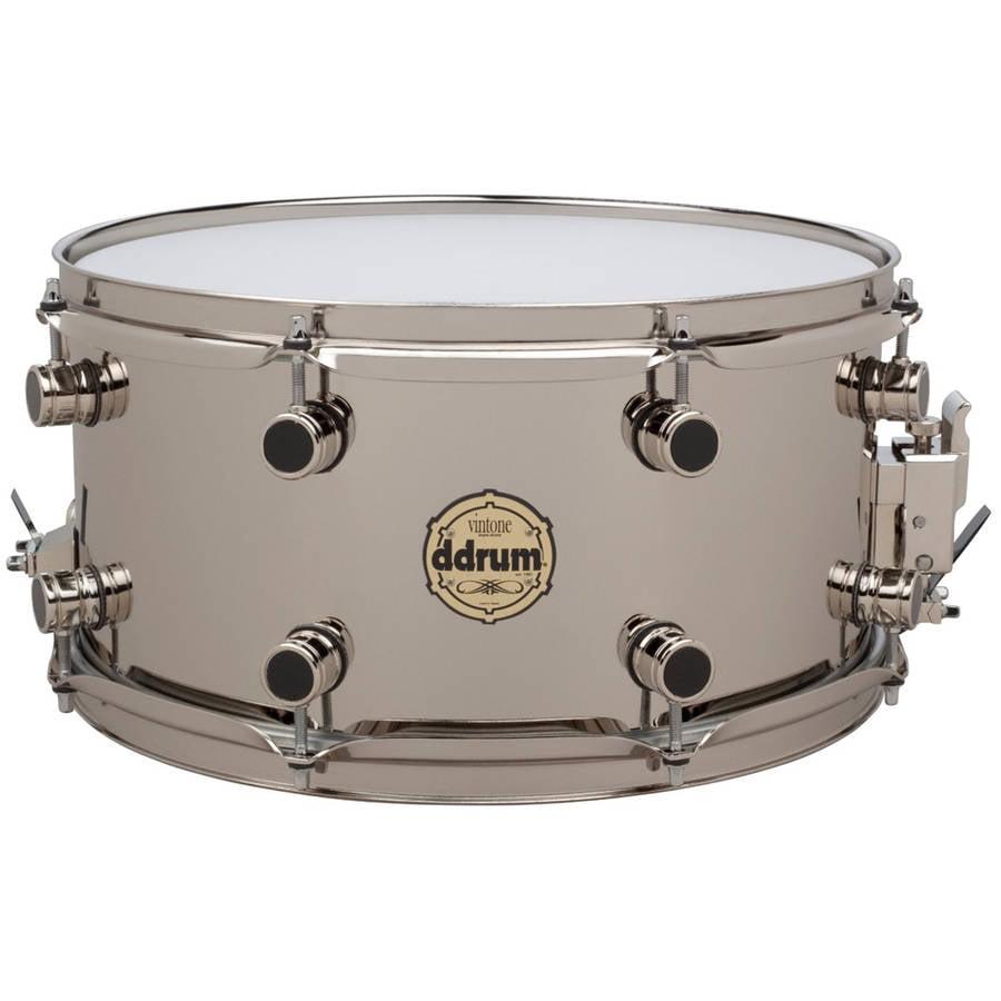 ddrum 7x14 Vintone Elemental Nickel Brass Snare Drum by ddrum