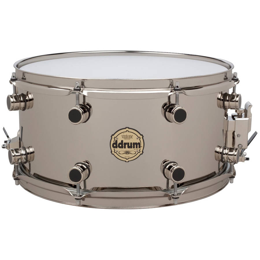 ddrum 7x14 Vintone Elemental Nickel/Brass Snare Drum