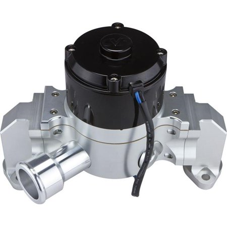 CVR Performance 8550CL Billet Aluminum Electric Water Pump for Small Block Chevrolet - Clear