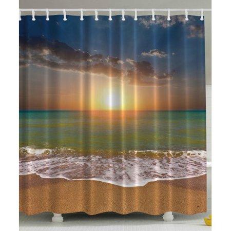 Ambesonne Sunset Ocean Print Shower Curtain - Walmart.com