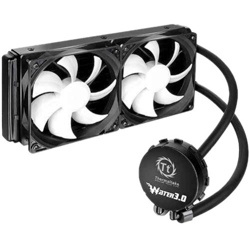 Thermaltake Water 3.0 Extreme S Cooling Fan/Water Block - 2 x 120 mm - 2000 rpm - 2 x 99 CFM - Liquid Cooler - 4-pin PWM - Socket R LGA-2011, Socket B LGA-1366, Socket H3 LGA-1150, Socket H2