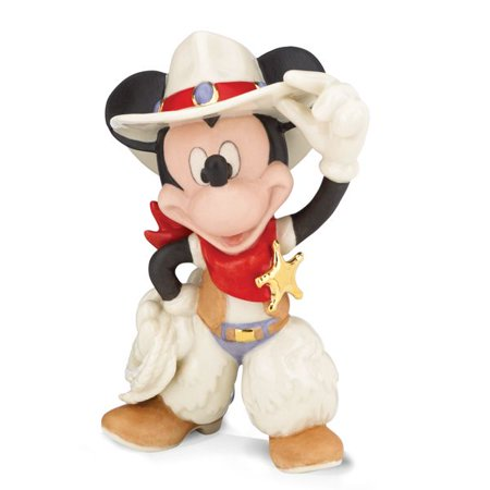 - Lenox Disney Showcase Collection 843562 Rodeo Mickey Figurine