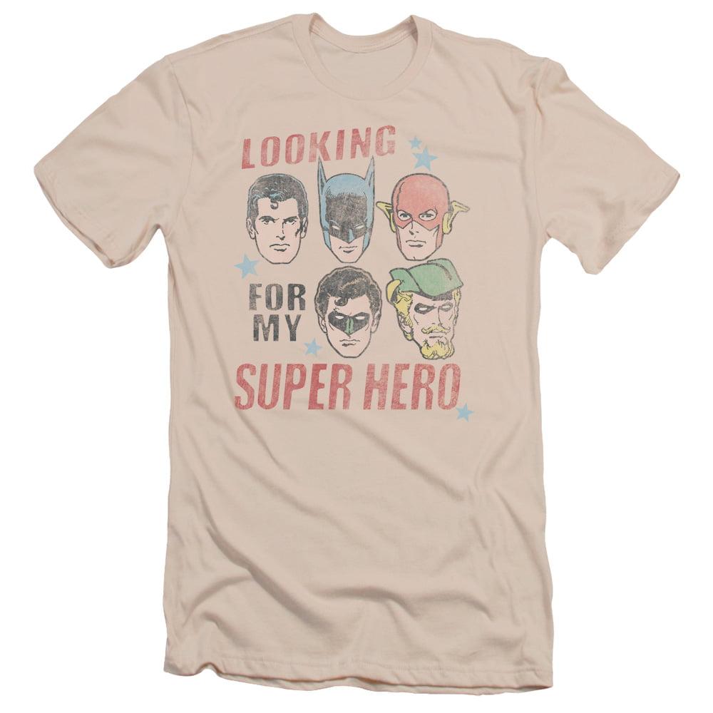 Justice League DC Comics My Super Hero Adult Slim T-Shirt Tee
