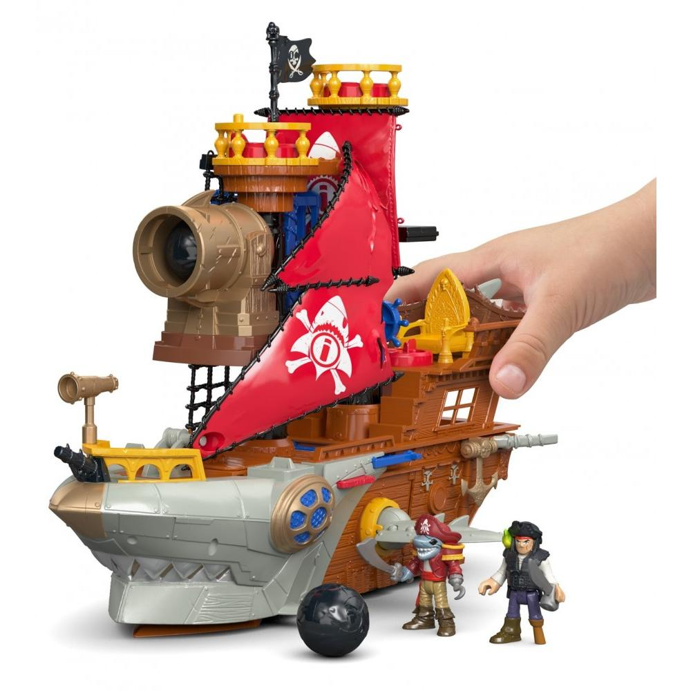 Fisher-Price Imaginext Shark Bite Pirate Ship Playset