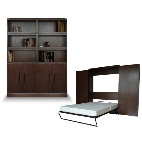 Room and Loft Bookcase Queen Murphy Bed