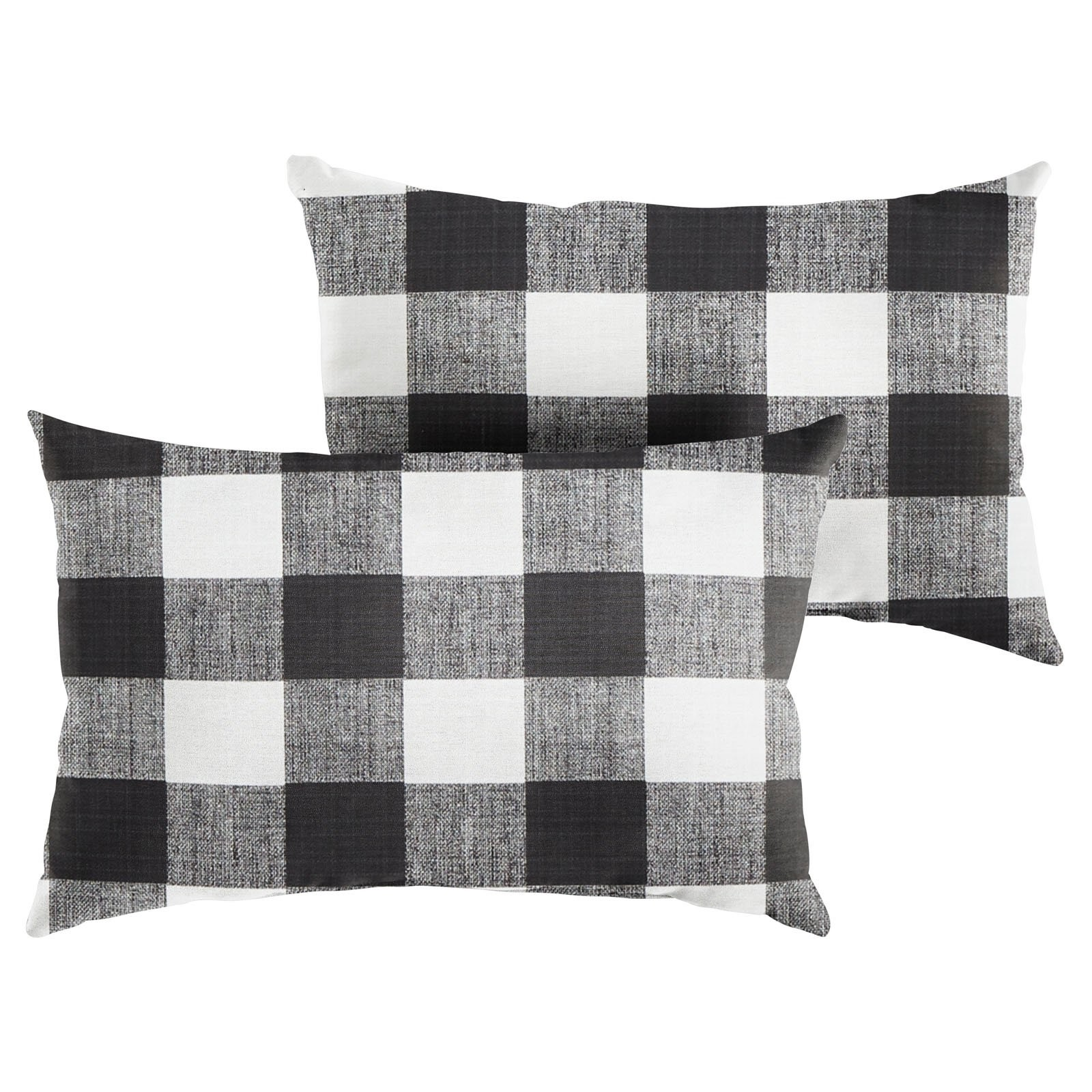 Mozaic Company Buffalo Plaid Indoor Outdoor Lumbar Throw Pillow