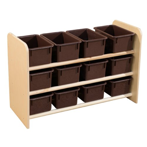 Wood Designs See-All 12 Compartment Cubby with Trays