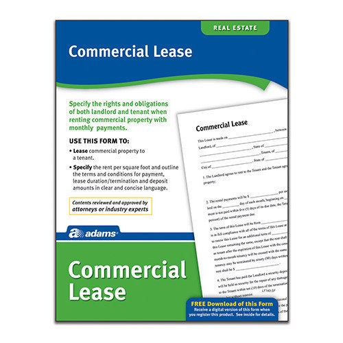 Adams Business Forms Commercial Lease Forms and Instruction (Set of 6) (Set of 288)