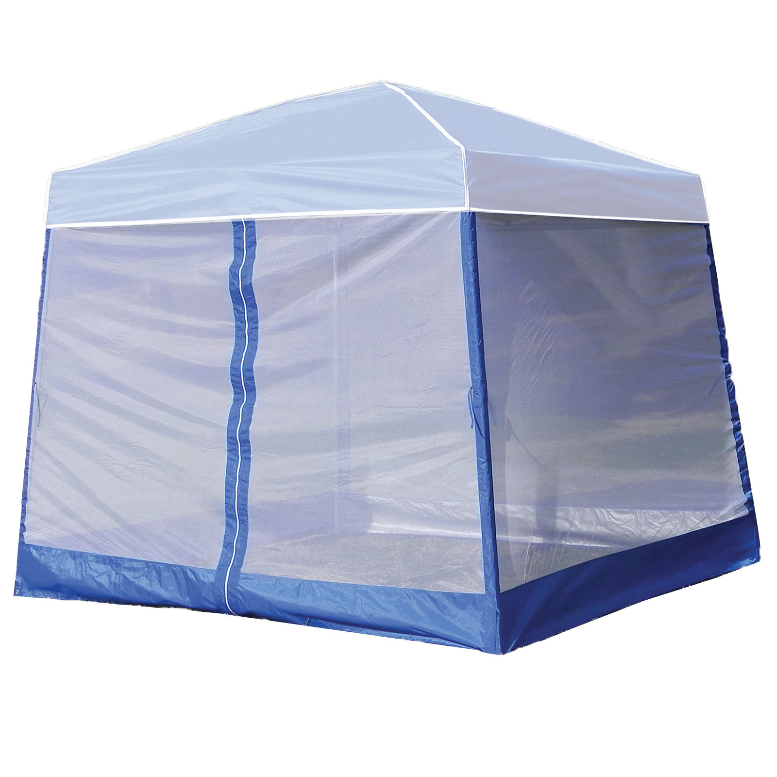 Z-Shade 10 Foot Angled Leg Screenroom Tent Camping Outdoor Patio Shelter, Blue by Z-Shade