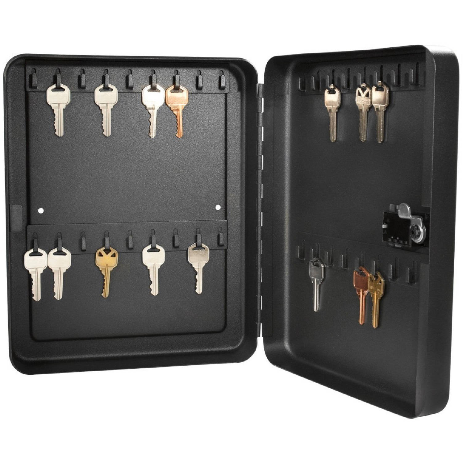 Barska 36 Position Key Lock Box with Combination Lock, Black