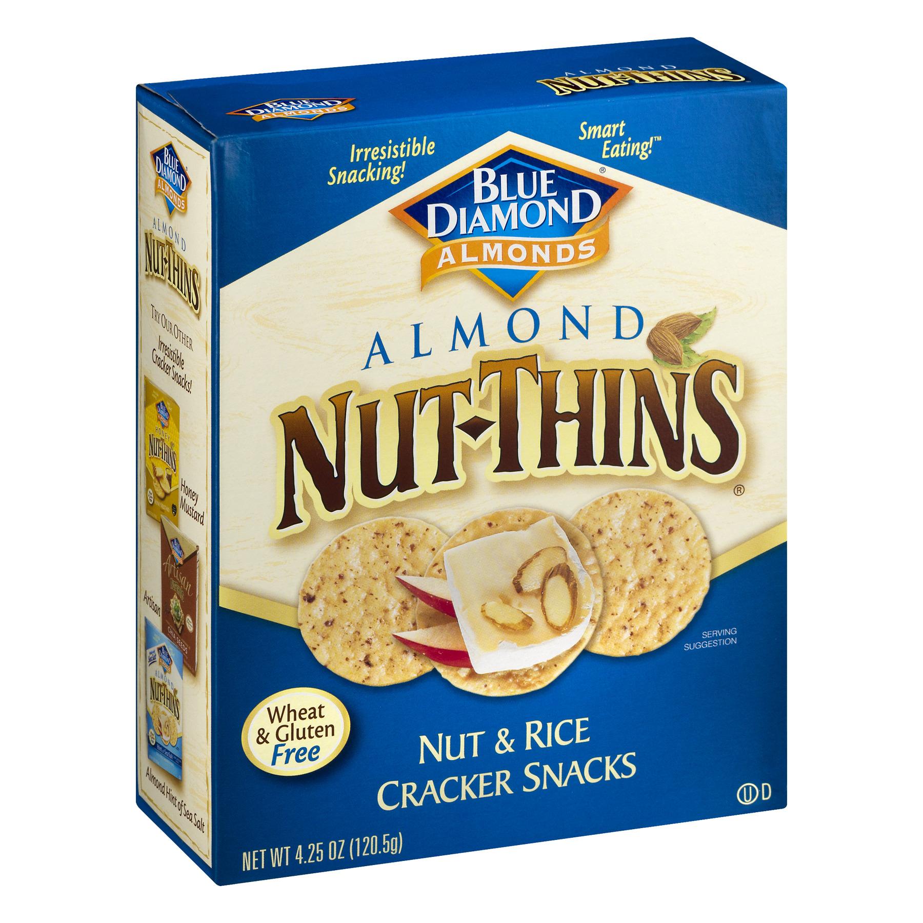 nut thins crackers original almond 4 25 oz box walmart com