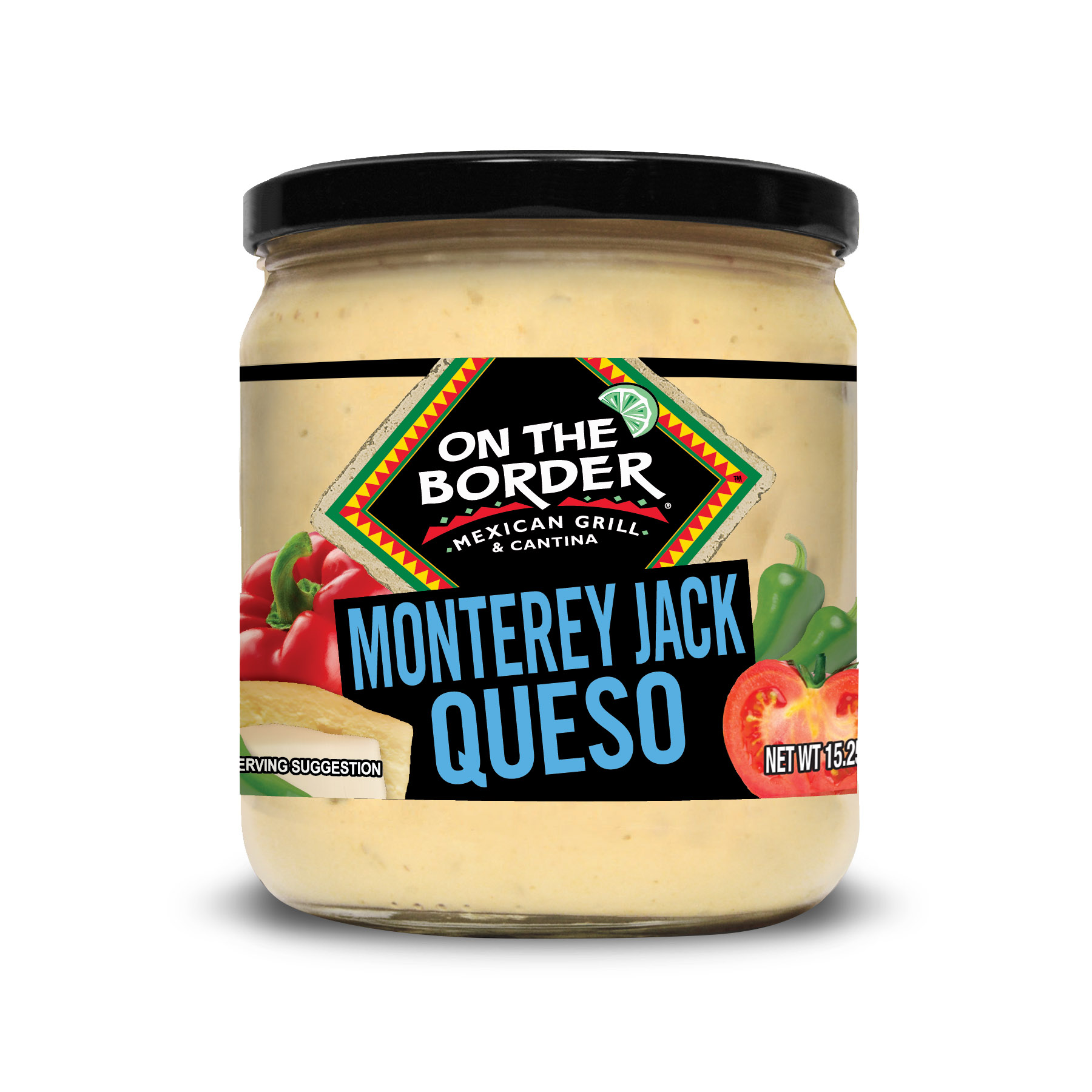 On The Border Mexican Grill & Cantina Monterey Jack Queso, 15.25 Oz.