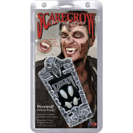 Werewolf Custom Scarecrow Fang Adult Halloween Accessory - Fangs For Halloween