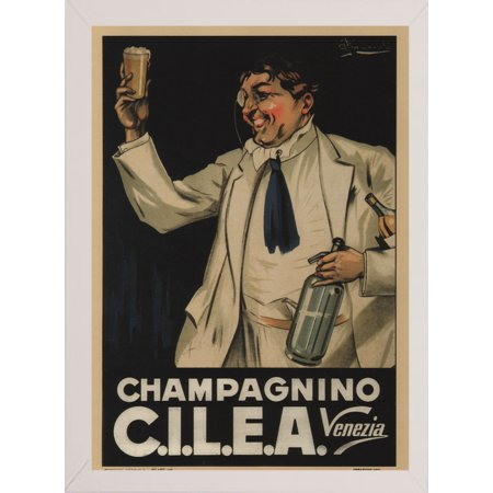 "Cilea Italy-VINAPP121001 Print 20""x14.25"" by Vintage Apple Collection in a Affordable White Medium"