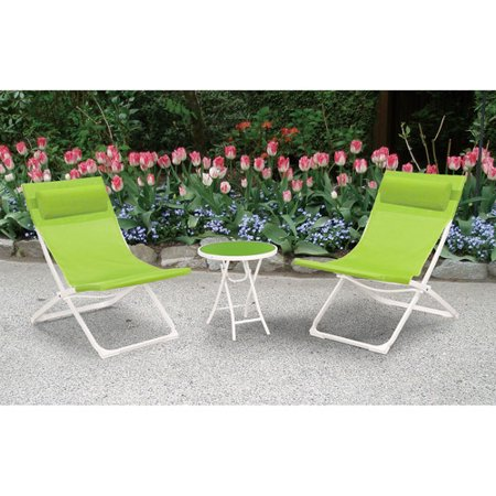 mainstays 3 seat sling folding bistro set