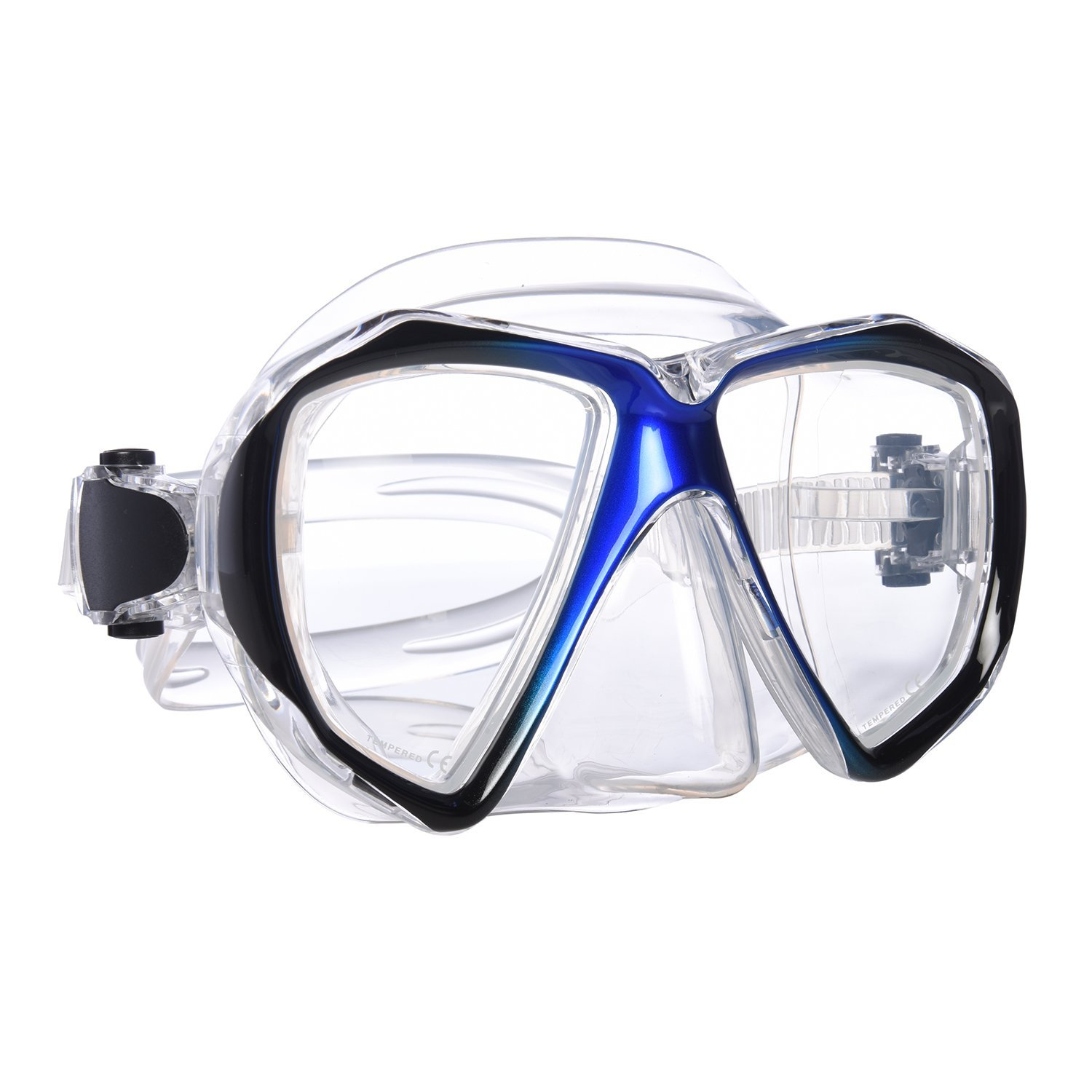 Snorkel Mask - Mask Snorkel - Double Lens diving mask Perfect for Scuba Diving, Snorkeling, Swimming - Ivation
