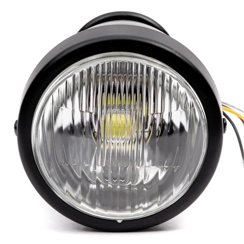 "Krator 4.25"" Mini Headlight w/ High and Low Beam + Fog Lights LED Bulb Black Housing for Yamaha Raider S XV 1900 XV1900 - image 6 de 8"