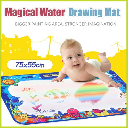 75X55cm Children Water Drawing Mat Magic Doodle Mat,baby early Learning, educational toys