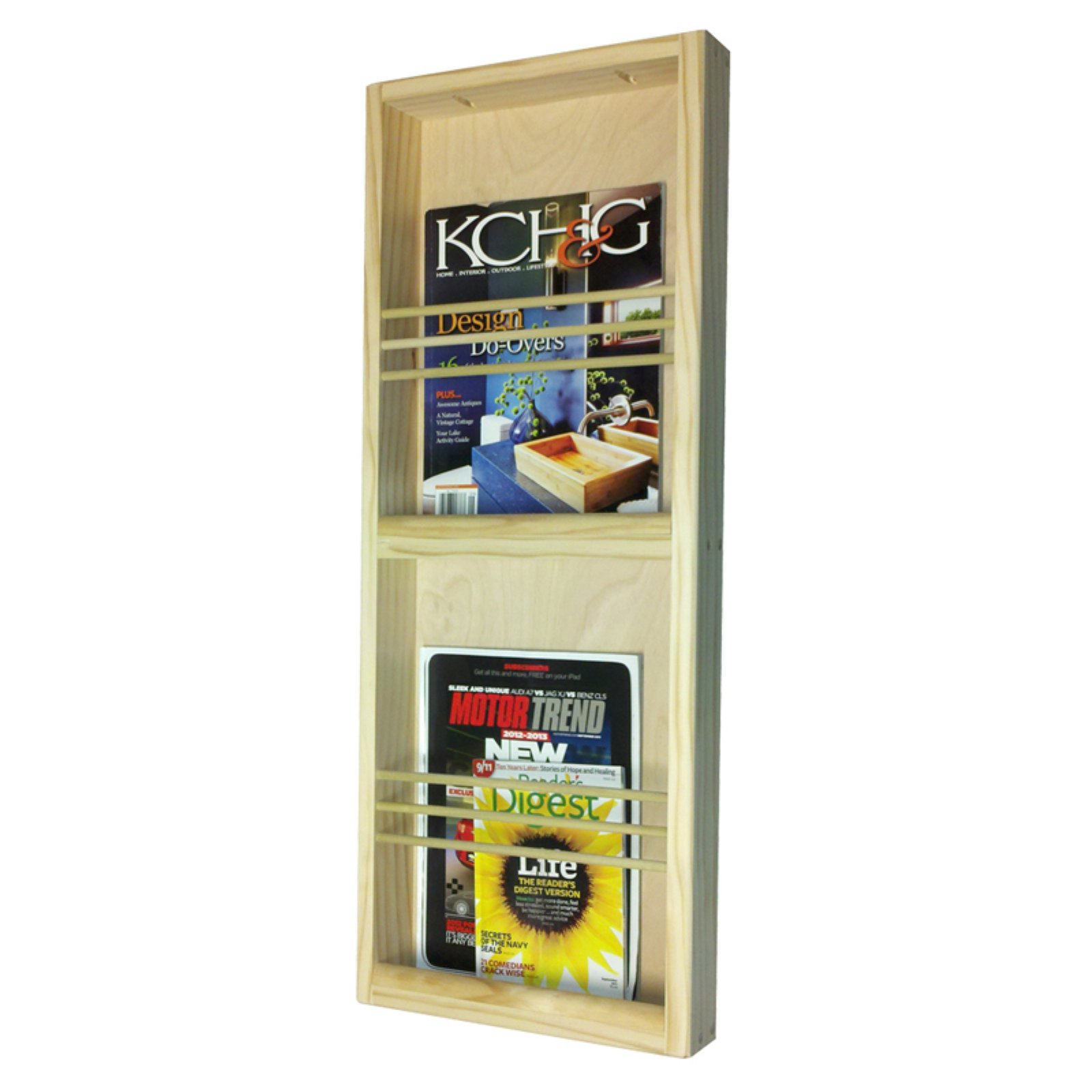 WG Wood Surface Mount Double Magazine Rack by WG Wood Products LLC