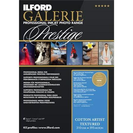 Ilford Galerie Fine Art - Ilford Galerie Prestige Cotton Artist Textured Inkjet Photo Paper, 310gsm, 23.4mil, 13x19