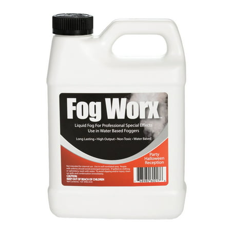 FogWorx Fog Juice - 1 Quart of Organic Fog Fluid (32 oz) - Medium Density, High Output, Long Lasting Fog Machine Fluid
