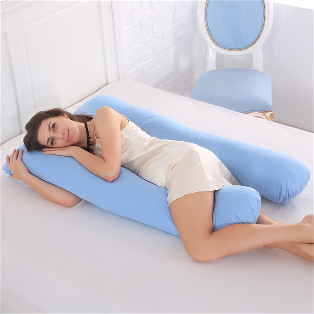Pregnancy Pillow - Full Body Pillow for Maternity & Pregnant Women by TOPCHANCES,  U Shape Bed Pillow - 6 COLORS - White Green Blue Pink Yellow Purple