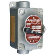 APPLETON ELECTRIC EDSC118 Tumbler Switch, EDSC Series, 1 Gang, 2-Pole