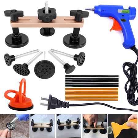 Pops a Dent Puller Bridge Dent Repair Tools Kit Paintless Dent Removal Mini Suction Cup for Auto Body Motorcycle Refrigerator Washing Machine Dent (Best Dent Puller Kit)