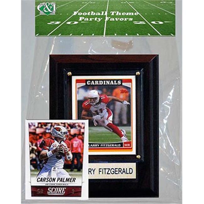 Candlcollectables 46LBAZCADINALS NFL Arizona Cardinals Party Favor With 4 x 6 Plaque