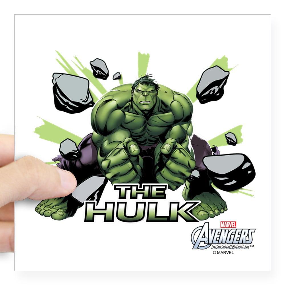 "CafePress - Hulk Slam Square Sticker 3"" X 3 - Square Sticker 3"" x 3"""