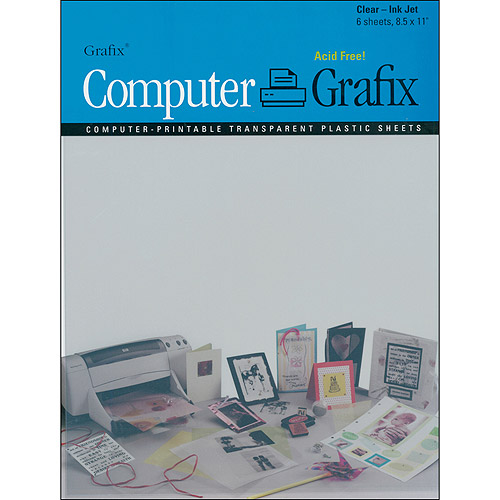 "Grafix Ink Jet Film, 8.5"" x 11"", 6/Pkg"