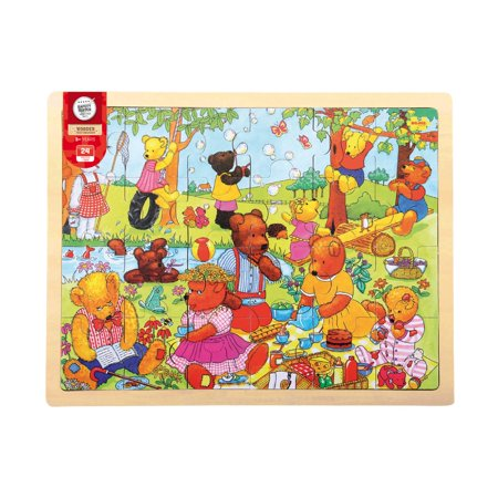 Wooden Teddy's Picnic Tray Puzzle: 24